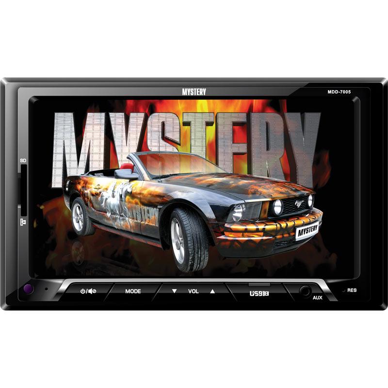 "Автомагнитола Mystery MDD-7005 бездисковая 7"" USB MP3 FM RDS SD MMC 1DIN 4x50Вт пульт ДУ черный"