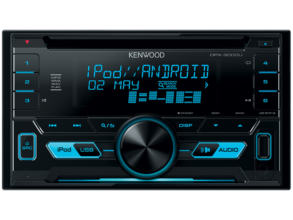 Автомагнитола Kenwood DPX-3000U USB MP3 CD FM RDS 2DIN 4х50Вт пульт ДУ черный 2 din car video player 7 2din car dvd mp4 mp5 player gps navigation fm rds usb bluetooth remote control rear view camera