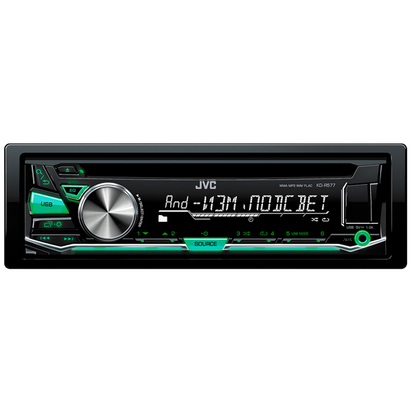 Автомагнитола JVC KD-R577 USB MP3 CD FM 1DIN 4x50Вт черный sun daze