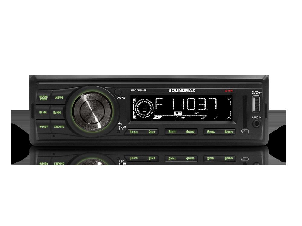 Автомагнитола Soundmax SM-CCR3047F USB MP3 FM RDS SD MMC 1DIN 4x45Вт черный