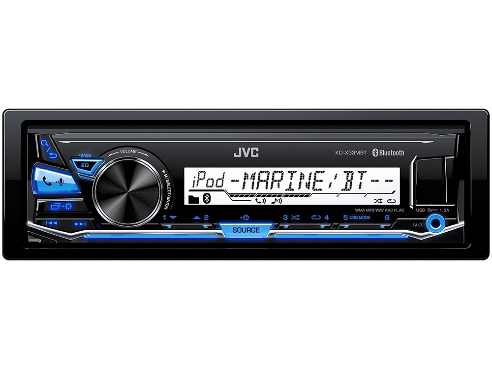 Автомагнитола JVC KD-X33MBT USB MP3 FM RDS 1DIN 4x50Вт черный автомагнитола kenwood kdc bt500u usb mp3 cd fm rds 1din 4х50вт черный