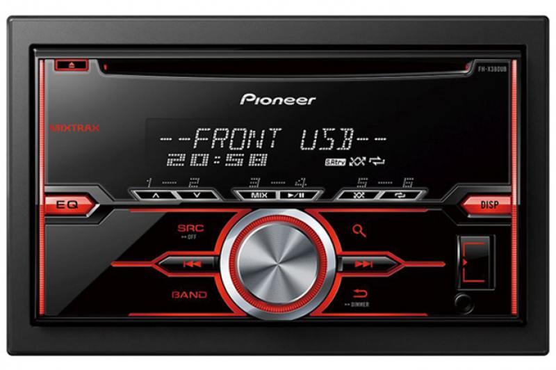 Автомагнитола Pioneer FH-X380UB USB MP3 CD FM RDS 2DIN 4x50Вт пульт ДУ черный johns ст2027