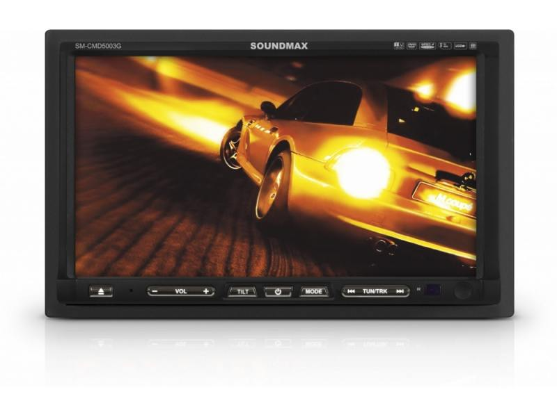 Автомагнитола Soundmax SM-CMD5003G 7 480х234 CD DVD MP3 FM RDS 1DIN 4x50Вт автомобильный dvd плеер joyous kd 7 800 480 2 din 4 4 gps navi toyota rav4 4 4 dvd dual core rds wifi 3g
