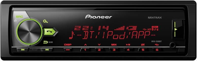 Автомагнитола Pioneer MVH-X580BT USB MP3 FM RDS 1DIN 4x50Вт черный pioneer mvh x580bt