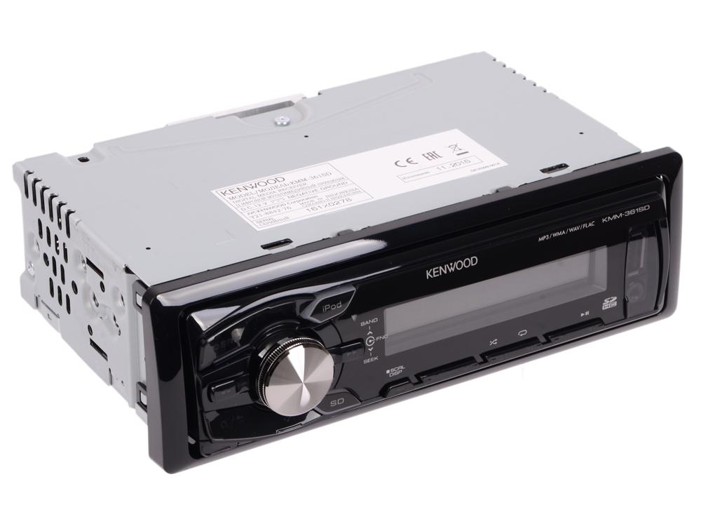 Автомагнитола Kenwood KMM-361SDED USB MP3 FM 1DIN 4х50Вт черный автомагнитола kenwood kmm 361sded usb mp3 fm 1din 4х50вт черный