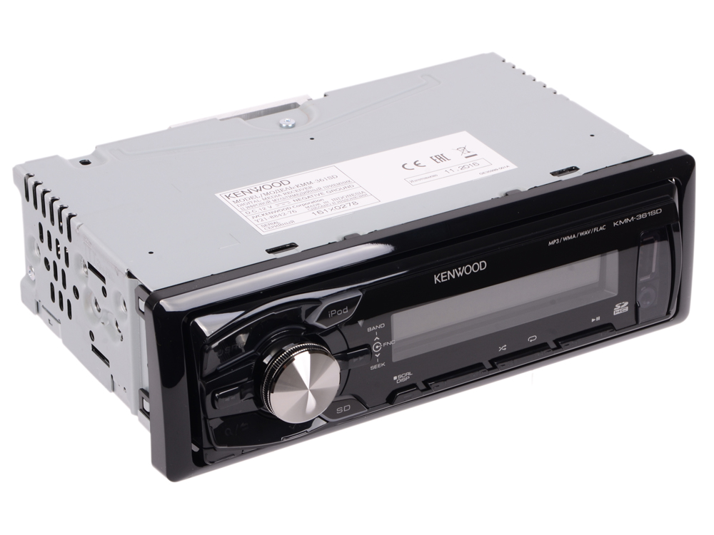 Автомагнитола Kenwood KMM-361SDED USB MP3 FM 1DIN 4х50Вт черный