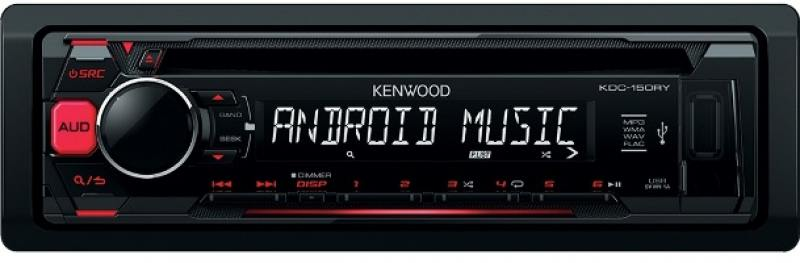 Автомагнитола Kenwood KDC-151RY USB MP3 CD FM 1DIN 4х50Вт черный автомагнитола kenwood kdc 151ry usb