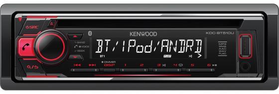 Автомагнитола Kenwood KDC-BT510U USB MP3 CD FM 1DIN 4х50Вт черный автомагнитола kenwood kdc bt500u usb mp3 cd fm rds 1din 4х50вт черный