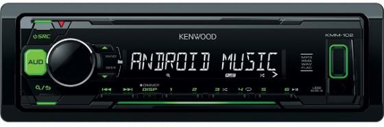 Автомагнитола Kenwood KMM-103GY USB MP3 FM 1DIN 4х50Вт черный автомагнитола kenwood kmm 104gy usb mp3 fm rds 1din 4х50вт черный