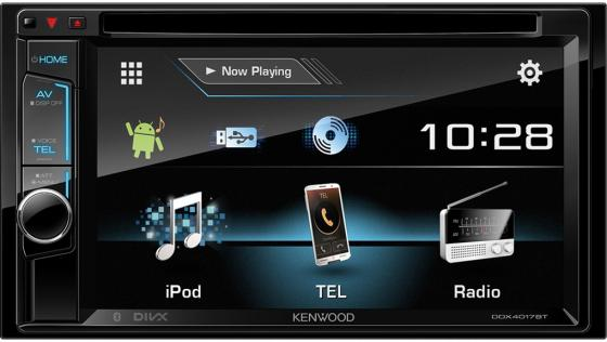 Автомагнитола Kenwood DDX-4017BTR 6.2 USB MP3 DVD CD FM 2DIN 4x50Вт черный gps navigation hd 2din 6 2 inch car stereo dvd player bluetooth ipod mp3 tv camera