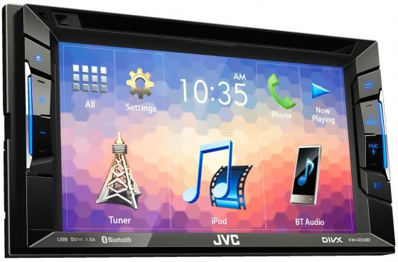 Автомагнитола JVC KW-V230BT 6.2 USB MP3 DVD CD FM 2DIN 4x50Вт черный корпус corsair obsidian series 350d window cc 9011029 ww page 7