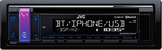 Автомагнитола JVC KD-R881BT USB MP3 CD FM RDS 1DIN 4x50Вт черный автомагнитола jvc kd r881bt