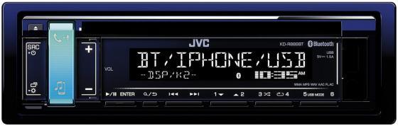 Автомагнитола JVC KD-R889BT USB MP3 CD FM 1DIN 4x50Вт черный автомагнитола kenwood kdc 151ry