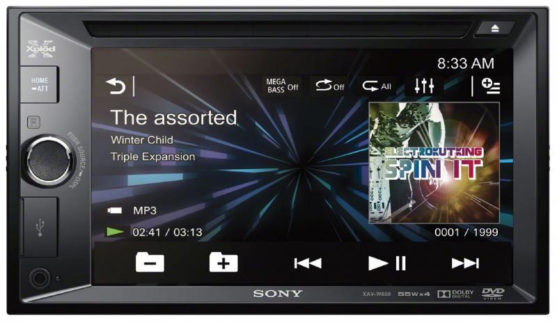 Автомагнитола SONY XAV-W600 CD DVD 2DIN 4x55Вт автомагнитола k01 k02 k07 k17 k27 k05 k06 cd dvd