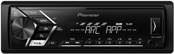 Автомагнитола Pioneer MVH-S100UBW USB MP3 FM RDS 1DIN 4x50Вт черный автомагнитола kenwood kmm 103ry usb mp3 fm rds 1din 4х50вт черный