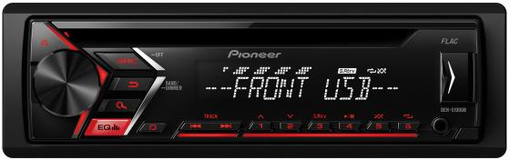 Автомагнитола Pioneer DEH-S100UB USB MP3 CD FM 1DIN 4x50Вт черный автомагнитола kenwood kdc 151ry usb mp3 cd fm 1din 4х50вт черный