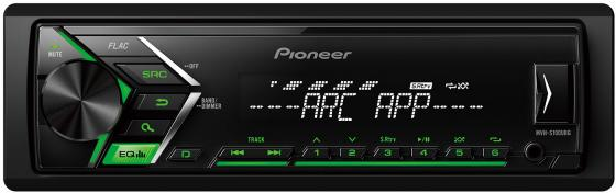 Автомагнитола Pioneer MVH-S100UBG USB MP3 FM RDS 1DIN 4x50Вт черный автомагнитола pioneer deh s100uba usb mp3 cd dvd fm rds 1din 4x50вт черный