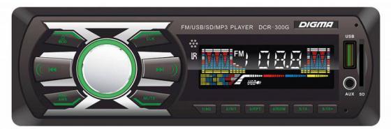 Автомагнитола Digma DCR-300G USB MP3 FM 1DIN 4x45Вт черный автомагнитола digma dcr 300g usb mp3 fm 1din 4x45вт черный