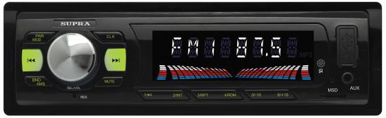 Автомагнитола Supra SFD-43U USB MP3 FM 1DIN 4x40Вт черный автомагнитола kenwood kmm 103ay usb mp3 fm 1din 4х50вт черный