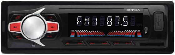 Автомагнитола Supra SFD-47U USB MP3 FM 1DIN 4x40Вт черный usb автомагнитола supra sfd 40u