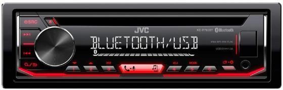 Автомагнитола JVC KD-R792BT USB MP3 CD FM RDS 1DIN 4x50Вт черный автомагнитола kenwood kdc 300uv usb mp3 cd fm rds 1din 4х50вт черный