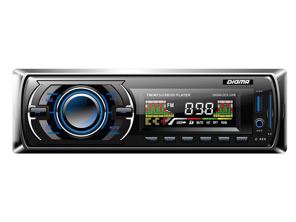 Фото - Автомагнитола Digma DCR-320B USB MP3 FM 1DIN 4x45Вт черный брелок многофункциональный hi tech dt 377