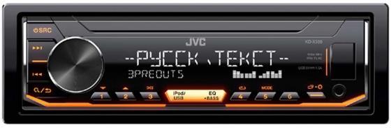 Автомагнитола JVC KD-X355 USB MP3 FM 1DIN 4x50Вт черный автомагнитола jvc kd x145 usb mp3 fm 1din 4x50вт черный