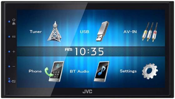 Автомагнитола JVC KW-M14 6.8 800x480 USB MP3 FM RDS 2DIN 4x50Вт черный
