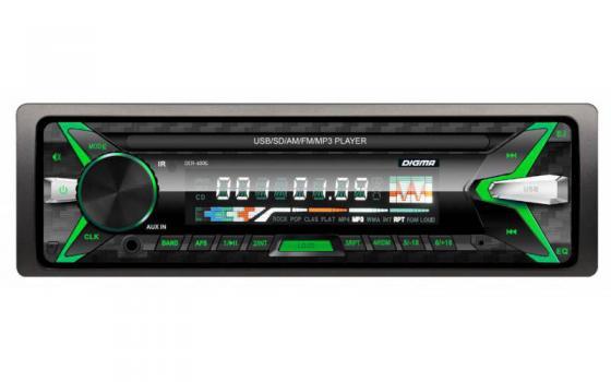 Автомагнитола Digma DCR-400G USB MP3 FM 1DIN 4x45Вт черный автомагнитола digma dcr 400g