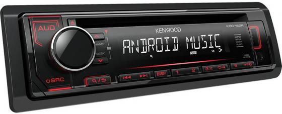 Автомагнитола Kenwood KDC-152R USB MP3 CD FM RDS 1DIN 4х50Вт черный автомагнитола kenwood kdc 152r usb mp3 cd fm rds 1din 4х50вт черный