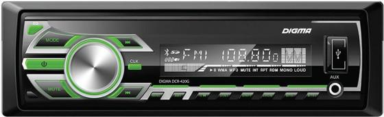 Фото Автомагнитола Digma DCR-420G USB MP3 FM 1DIN 4x45Вт черный сотовый телефон digma linx a177 2g