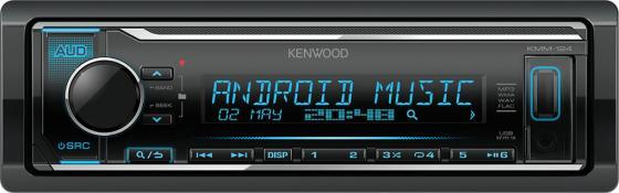 Автомагнитола Kenwood KMM-124 USB MP3 CD FM RDS 1DIN 4х50Вт черный автомагнитола kenwood kmm 203 usb mp3 fm 1din 4х50вт черный