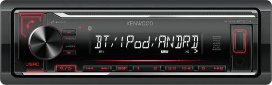 Автомагнитола Kenwood KMM-BT204 USB MP3 CD FM RDS 1DIN 4х50Вт черный цена