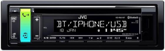 Автомагнитола JVC KD-R891BT USB MP3 CD FM RDS 1DIN 4x50Вт черный