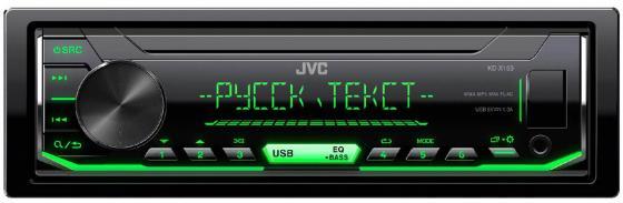 Автомагнитола JVC KD-X153 USB MP3 FM RDS 1DIN 4x50Вт черный автомагнитола jvc kd r477 kd r477
