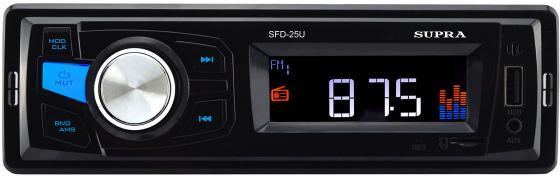 Автомагнитола Supra SFD-25U USB MP3 FM 1DIN 4x40Вт черный supra sfd 112u