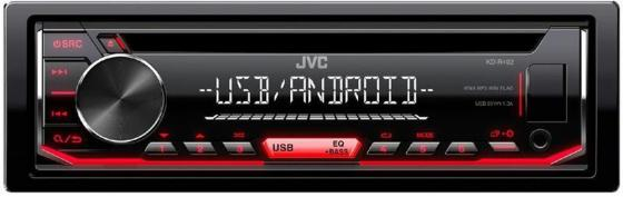 Автомагнитола JVC KD-R492 USB MP3 CD FM RDS 1DIN 4x50Вт черный автомагнитола cd jvc kd r571 1din
