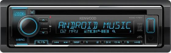 Автомагнитола Kenwood KDC-172Y USB MP3 CD FM RDS 1DIN 4х50Вт черный dombey and son