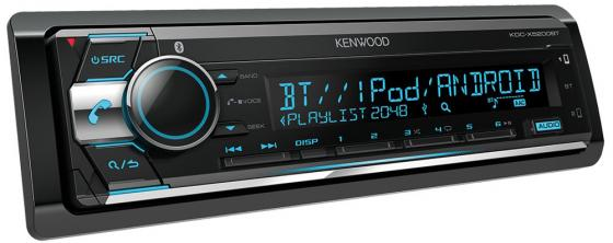 Автомагнитола Kenwood KDC-X5200BT USB MP3 CD FM RDS 1DIN 4х50Вт черный автомобильная магнитола с cd mp3 kenwood kdc 152r