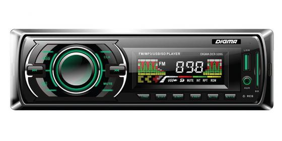 Автомагнитола Digma DCR-320G USB MP3 FM 1DIN 4x45Вт черный