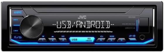 Автомагнитола JVC KD-X151 USB MP3 FM 1DIN 4x50Вт черный автомагнитола jvc kd x145 usb mp3 fm 1din 4x50вт черный