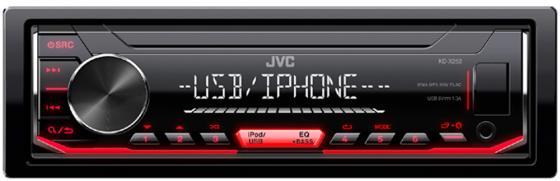 Автомагнитола JVC KD-X252 USB MP3 FM RDS 1DIN 4x50Вт черный автомагнитола jvc kd x145 usb mp3 fm 1din 4x50вт черный