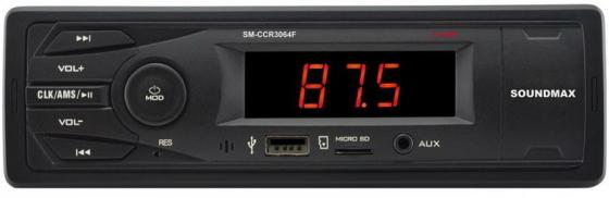 Автомагнитола Soundmax SM-CCR3064F USB MP3 FM 1DIN 4x40Вт черный автомагнитола soundmax sm ccr3058f usb mp3 fm sd mmc 1din 4x40вт черный