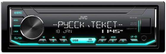 Автомагнитола JVC KD-X155 USB MP3 FM RDS 1DIN 4x50Вт черный makeup revolution redemption palette mermaids vs unicorns тени для век в палетке 12 тонов 13 г