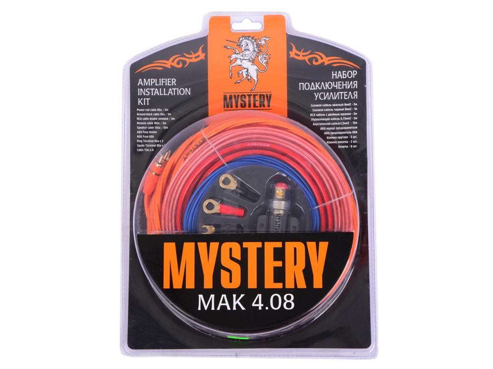 Установочный комплект Mystery MAK 4.08 для подключения 4-канального усилителя от OLDI