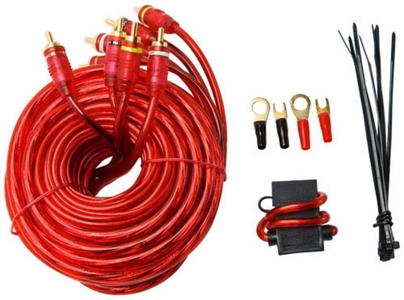 Установочный комплект Supra SAK 4.10 для подключения 4-канального усилителя автомобильный установочный набор supra sak 4 40