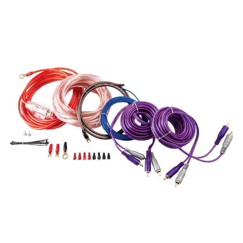 Установочный комплект Kicx PK 408 для подключения 4-канального усилителя набор проводов для усилителя kicx ak4agu4