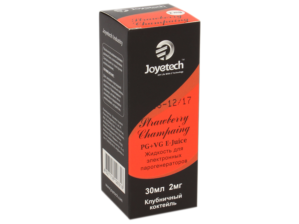 Жидкость для заправки электронных сигарет Joyetech Клубничный коктейль (2 mg) 30 мл