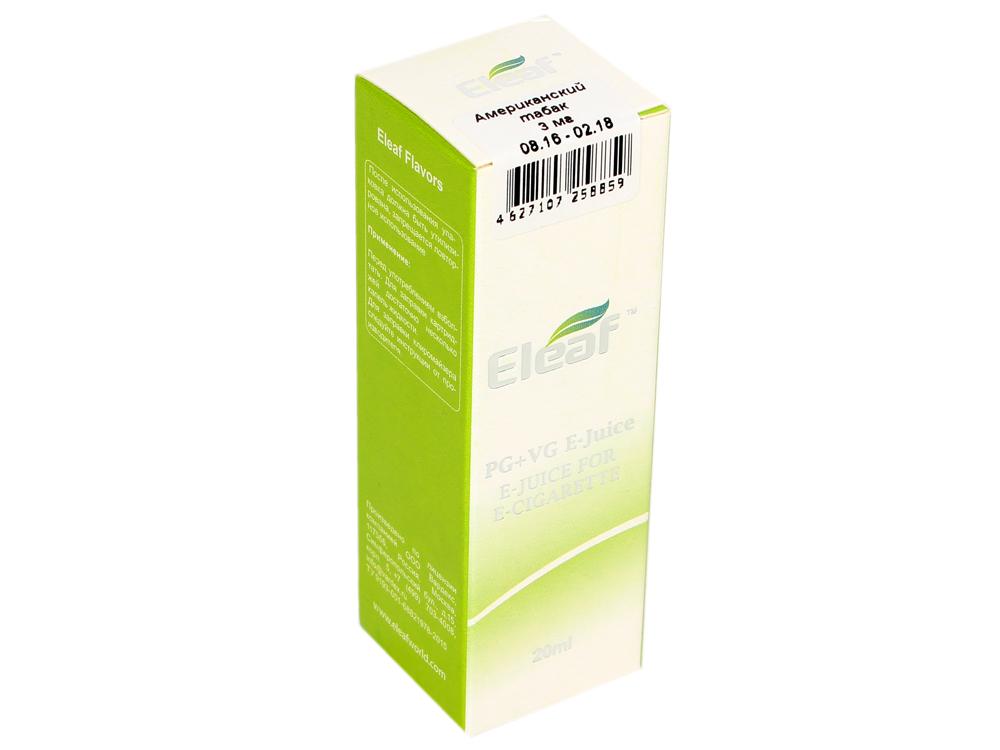 Жидкость для заправки электронных сигарет Eleaf Американский табак (3 mg) 20 мл