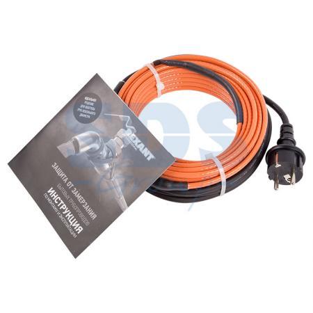 Греющий саморегулирующийся кабель (комплект в трубу) 10HTM2-CT (10м/100Вт) REXANT